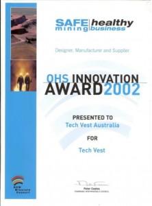 2002 Dept of Mineral Resources award