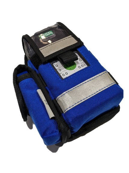 Modular gas detector pouches front view.