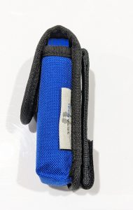 Side view of a small modular utility pouch.