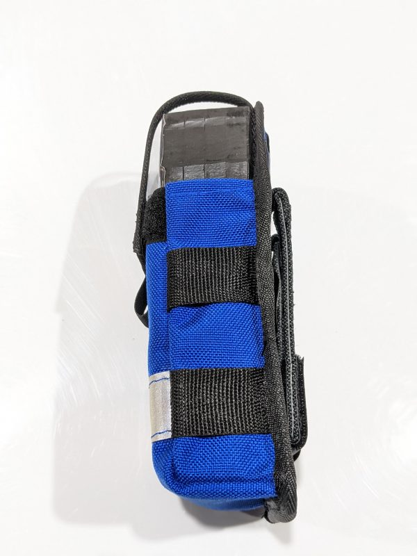 Modular gas detector pouch side view.