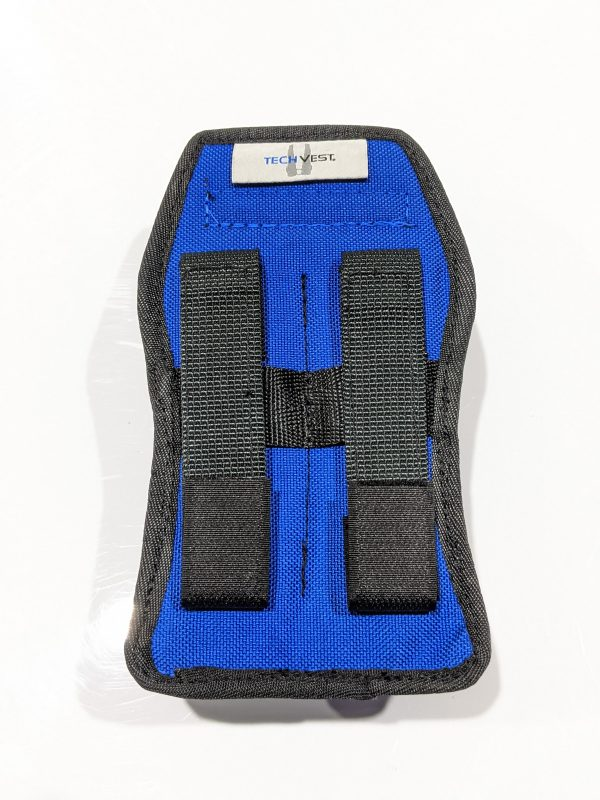Modular gas detector pouch rear view.